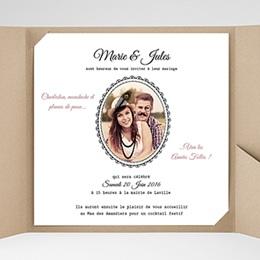 Faire-Part Mariage Pochette carré - Années Folles - 0