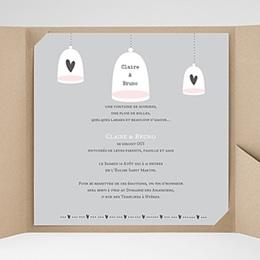 Faire-Part Mariage Pochette carré - Amour illuminé - 0