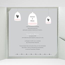 Faire-Part Mariage Pochette carré - Amour illuminé - 2