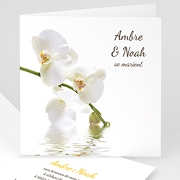 Faire-part Mariage Personnaliss - Mariage de l&#039;eau et de l&#039;orchid&eacute;e - 3