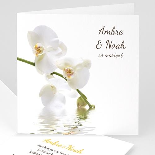 Faire-Part Mariage Personnalisés - Orchidée blanche 3982