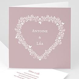 Faire-Part Mariage Personnalisés - Vintage Romance, gris - invitation Mariage - 3