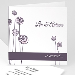 Faire-part Mariage Personnaliss - Mariage en blanc et rose - 3