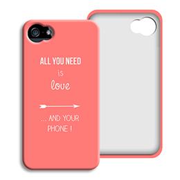 Coque Iphone 4/4s personnalisé - je t aime + que - 0