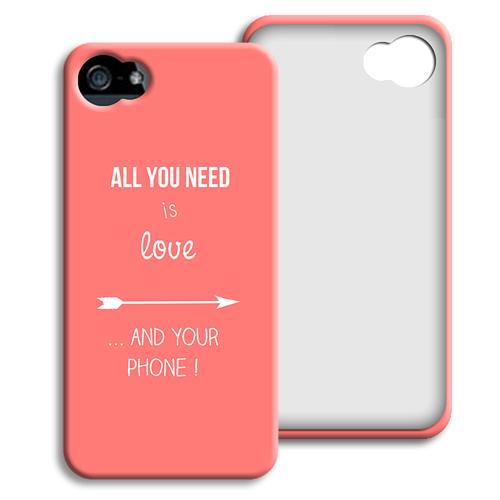 Accessoire tendance Iphone 5/5s  - je t aime + que 40429