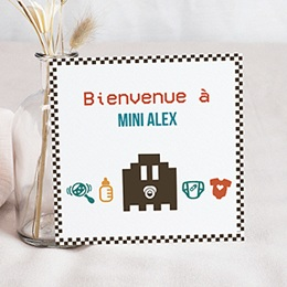 Faire-Part Naissance Garçon - Jeu Vidéo 40451