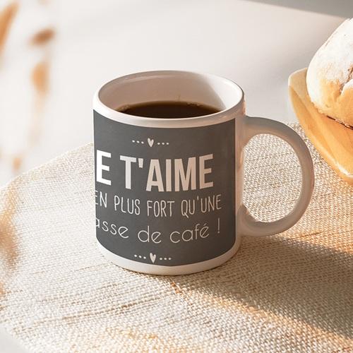 mug personnalis tasse caf message d 39 amour. Black Bedroom Furniture Sets. Home Design Ideas