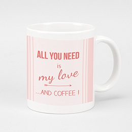 Mug Personnalisé - Love and coffee - 0