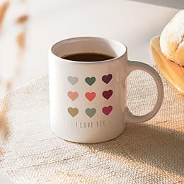 Mug Personnalisé - Coeurs de couleurs - 0