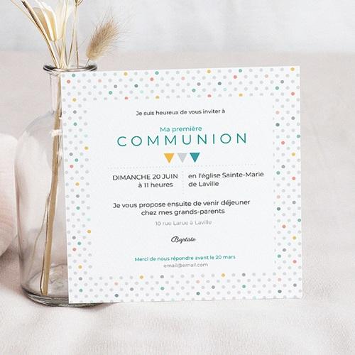 Faire-part Communion Garçon - Multi-couleurs 40515