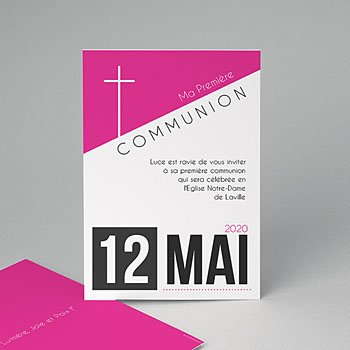 Faire-part Communion Fille - Affiche fille - 0