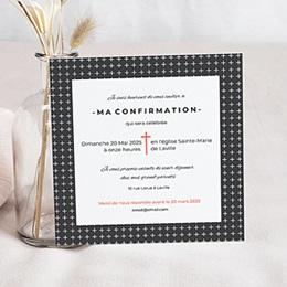 Invitation Confirmation  - Motifs Croix - 0