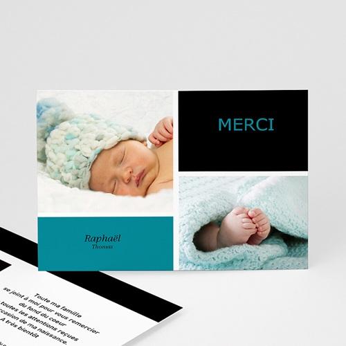 Remerciements Naissance Garçon - Mille Instants de bonheur - Bleu 4068