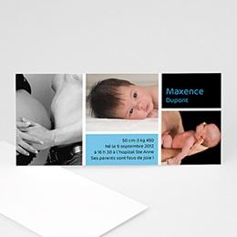 Faire-Part Naissance Garçon - Instants de bonheur - 3 clichés 4072