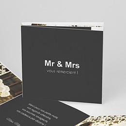 Remerciements Mariage Personnalisés - Mr & Mrs - 0