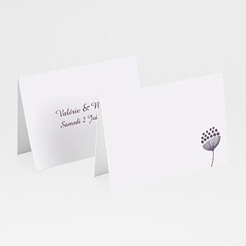 Marque Place Mariage Personnalisés - Violettes - 0