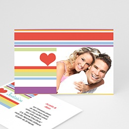 Carton Invitation Personnalisé - Vive les mariés ! - 3
