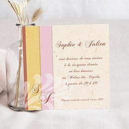 Carton Invitation Personnalisé - Une belle histoire d'amour - 3