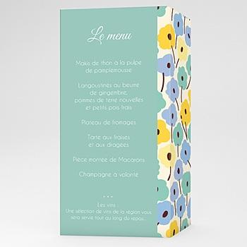 Menus Mariage Personnalisés - Jolies Fleurs - 0