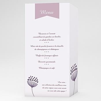 Menus Mariage Personnalisés - Violettes - 0