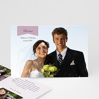 Remerciements Mariage Personnalisés - Violettes - 0