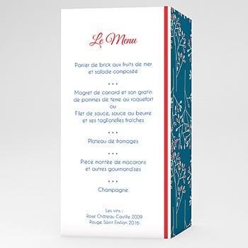 Menus Mariage Personnalisés - Style Aubusson - 0
