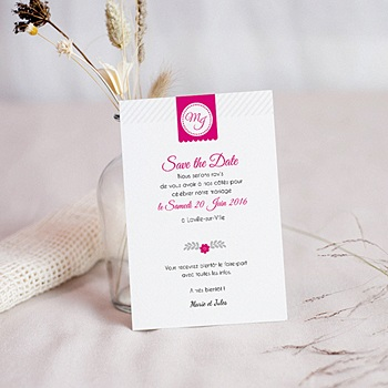 Save-The-Date - Simple et chic - 0