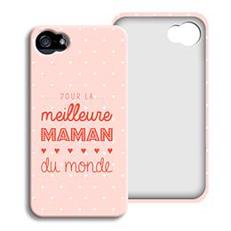 Coque Iphone 4/4s personnalisé - Photos maman - 0