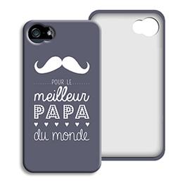 Coque Iphone 4/4s personnalisé - Message Papa - 0