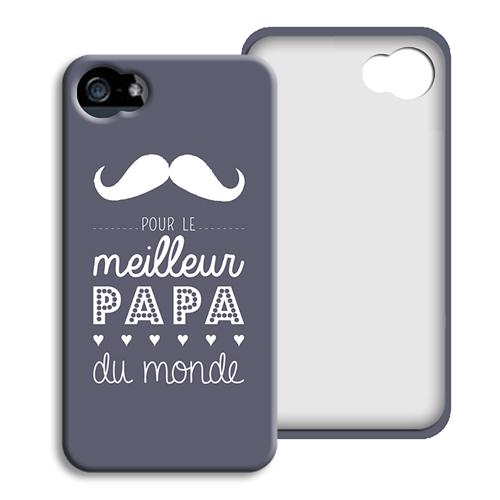 Coque Iphone 4/4s personnalisé - Message Papa 42867