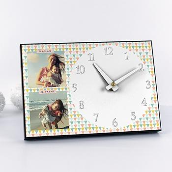 Horloge avec photo - A l'heure des triangles - 0