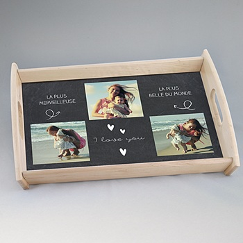 plateau personnalis avec photo carteland. Black Bedroom Furniture Sets. Home Design Ideas