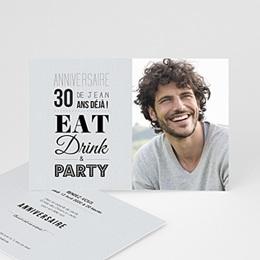 Invitation Anniversaire Adulte - Ca se fête - 0