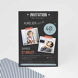 Invitation Anniversaire Adulte - Pop 40 ans - 0