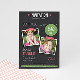 Invitation Anniversaire Adulte - Pop 50 ans - 0