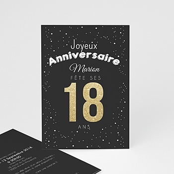 invitation anniversaire 18 ans fille. Black Bedroom Furniture Sets. Home Design Ideas
