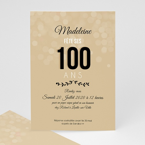 Invitation Anniversaire Adulte - 100 ANS ! | Carteland.com