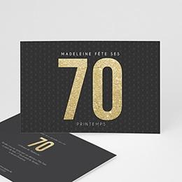 Invitation Anniversaire Adulte - 70 or - 0