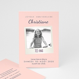 Invitation Anniversaire Adulte - 70 Pola Party - 0