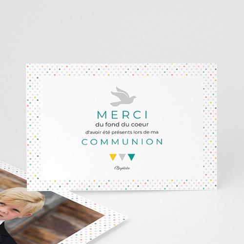 Remerciements Communion Garçon - Multi-couleurs 43408