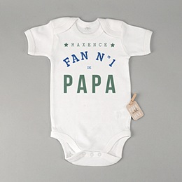 Body bébé - Fan de papa - 0