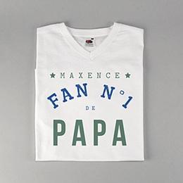 Tee-shirt homme - Fan de papa - 0