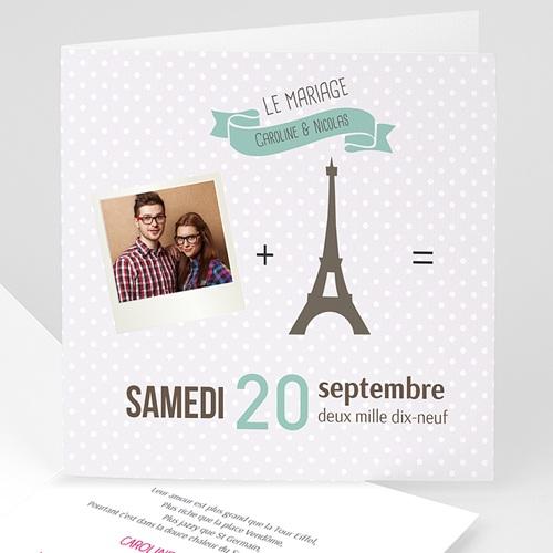 Faire-Part Mariage Personnalisés - Paris Tour Eiffel 43486