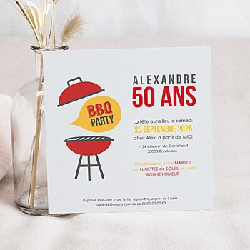 Invitations Anniversaire Adulte - BBQ Party - 0
