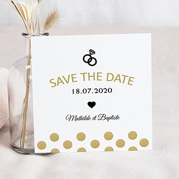 Save-The-Date - Paillettes et bagues - 0