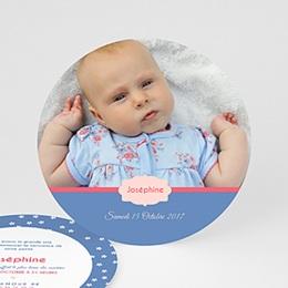 Faire-Part Naissance Fille - Lili Fleurs 44202