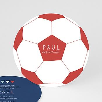 Faire-part Naissance Garçon - Ballon de foot - 0