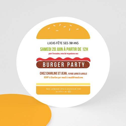 Invitation Anniversaire Adulte - Burger party 44238