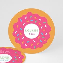 Invitations Anniversaire Garçon - Donut party 44258
