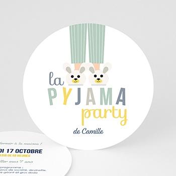 Invitations Anniversaire Garçon - Pyjama Party - 0